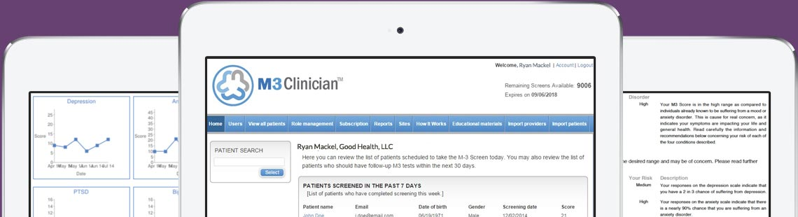 Use M3 Clinician on Tablets